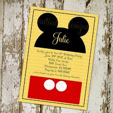 mickey mouse printable birthday invitations mickey mouse disney birthday party invitations or baby shower