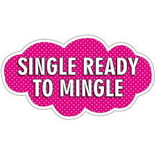 photo booth prop single ready to mingle word board photo booth prop