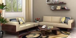 Wooden Sofa Sets Online  Buy Solid Wood Sofa Set Upto  OFF - Wooden sofa design