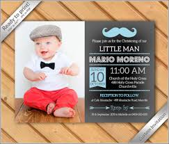 Sample Of Invitation Card For Christening Baby Boy Baptism Christening Dedication Photo Invitation