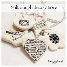 hand stamped salt dough decorations and gift tags salt dough