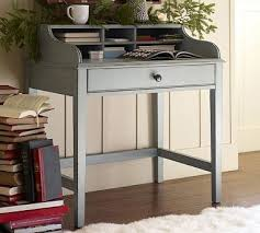 Small Writing Desks For Small Spaces Jacqueline Bedside Desk Blue Traditional Nightstands