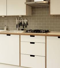 White Formica Kitchen Cabinets Formica And Birch Ply Kitchen With Grab Handles Formica
