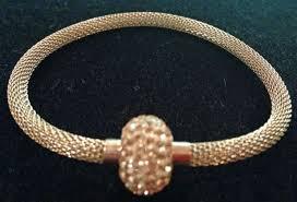 gold swarovski bracelet images Gold tone magnetic swarovski crystal mesh bracelet gorgeous gems jpg