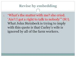 Curley S Quotes Embedding Quotes Mrs Kirk Language Arts Ppt Video Online Download
