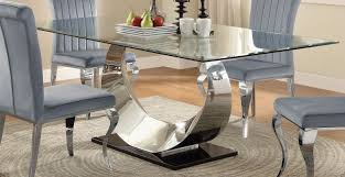 chrome dining room sets coaster manessier chrome dining table manessier collection 17