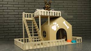 make house how to make amazing puppy dog house from cardboard youtube