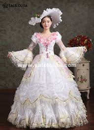 wedding party dresses white pink flower antoinette costume wedding party