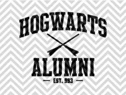 hogwarts alumni bumper sticker hogwarts alumni harry potter svg and dxf eps cut file cricut