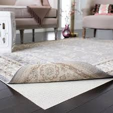 flat non slip rug pad 6 u0027 x 6 u0027 round 6928391 hsn