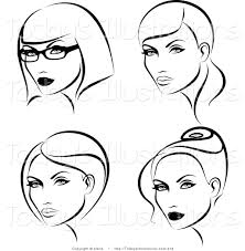 Meme Hairstyles - make meme with hairstyles black and white clipart