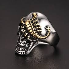gothic rings images Skull bone gothic rings front launch jpg