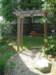 build a wooden garden arbor steps with pictures images with