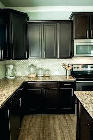 cabinet touch up paint espresso cabinet paint arabesque tile with espresso cabinets and