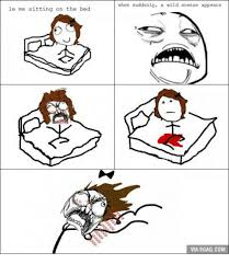 Le Me Meme Generator - le me sitting on the bed when suddenly a wild sneeze appears via