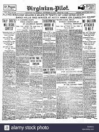 1903 virginian pilot front page reporting the first flight by the