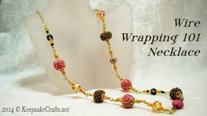 beading cord necklace images Wire wrapping 101 bead necklace video tutorial jpg
