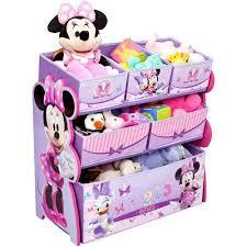delta children disney minnie mouse multi bin toy organizer