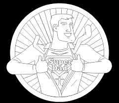 super dad free online coloring page
