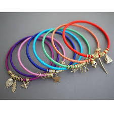 cord bracelet with charm images Diy colour charm wrap bangles bracelet collection bracelet jewelry jpg