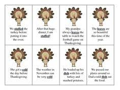 speech therapy 24 thanksgiving picture vocabulary flashcards w 24