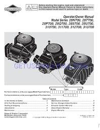 briggs u0026 stratton air cleaner 28s700 user u0027s manual download free