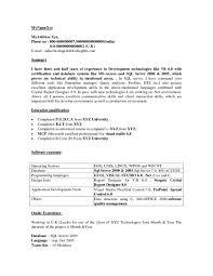Oracle Sql Resume Sle Resume For Sql Developer 28 Images Software Engineer