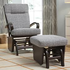 Nursery Glider Rocking Chairs by Decor U0026 Tips Outstanding Glider Rocking Chair With Ottoman And