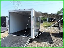 Cargo Trailer Awning 16 Foot Enclosed Trailer Rvs For Sale