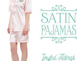 sale personalized bridesmaid pajamas satin pajama set