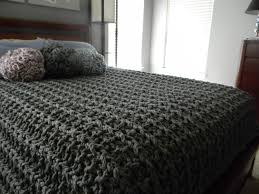 96 x 84 giant super chunky knit blanket queen