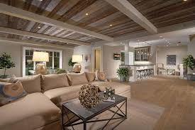 contemporary basement with exposed beam by tim smith zillow digs