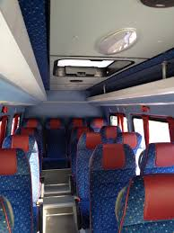 volkswagen crafter interior minibus coach bus minivan private hire in sofia bulgaria