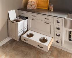 custom laundry room cabinets hideaway pet dish holder transitional laundry room other by