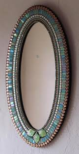 blue green and copper colored mosaic mirror mirror mirror on