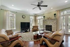 ultimate living room with stone fireplace on living room cream