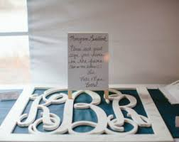 monogrammed wedding guest book mr mrs sign wood letterswall decor painted wood letters