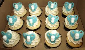 toppers unisex and simple baby shower cake ideas cupcakes photo