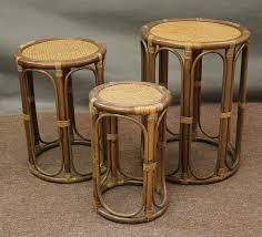 round wicker end table aruba rattan stacking nesting end tables all about wicker rattan end