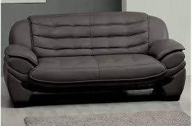canapé 2 places en cuir canapé 2 places en cuir italien benson gris foncé mobilier privé