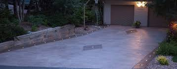 Led Patio Lights Concrete With Light Embedded In Stamped Concrete Driveway Dek
