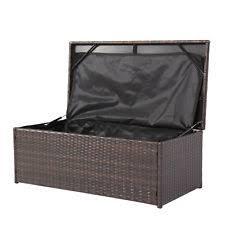 outdoor wicker storage cabinet wicker storage box ebay