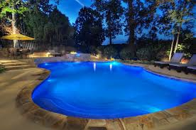 Patio Led Lights Atlanta Pool Builder Custom Pool Patio Led Lighting Photos