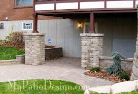 Backyard Brick Patio Design With Grill Station Seating Wall And by Fabulous Seating Wall Ideas For Your Patio U2013 Mypatiodesign Com
