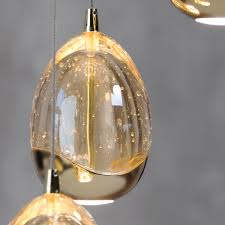 Glass Droplet Ceiling Light by Bulla 3 Light Ceiling Light Cluster Pendant Gold From Litecraft