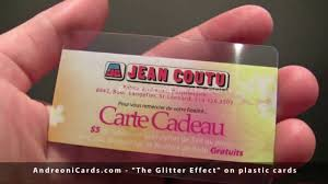 glitter effect of plastic cards and plastic business cards youtube
