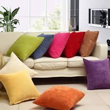 amazon com mochohome corduroy decorative solid square throw