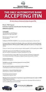 nissan finance department number itin program