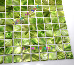 aliexpress com buy green tile kitchen backsplash mother of pearl