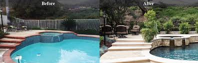 Backyard Renovations Before And After Chino Hills Pool Remodel Pool Renovation Downey